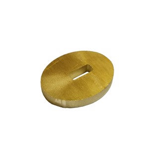 Front Plate Brass - 4 mm hole